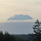 Mt. Rainer in the morning by Kathleen Hamilton