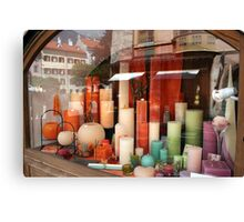 Colourful Candles Canvas Print