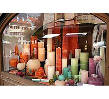 Colourful Candles Photographic Print