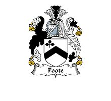 Coat of arms (family crest) for last-name or surname Foote . Heraldry banner for your name. Photographic Print