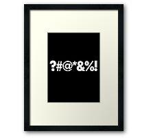 ?#@*&%! - Qbert Parody Swearing Framed Print