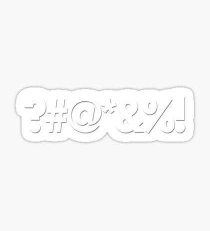 ?#@*&%! - Qbert Parody Swearing Sticker