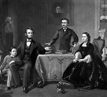 President Lincoln And His Family by warishellstore