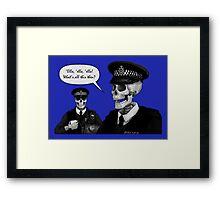 Skeleton Police (Blue) Framed Print