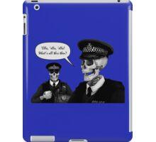 Skeleton Police (Blue) iPad Case/Skin