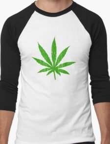 Marijuana Leaf Men's Baseball ¾ T-Shirt