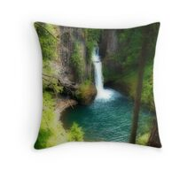Waterfall In The Grotto Throw Pillow