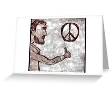 Thumbs-Up for Peace Greeting Card