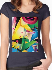 Abstract Design (Large Graphic) Women's Fitted Scoop T-Shirt