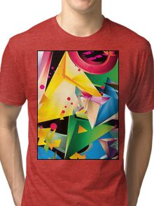 Abstract Design (Large Graphic) Tri-blend T-Shirt