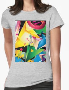 Abstract Design (Large Graphic) Womens Fitted T-Shirt