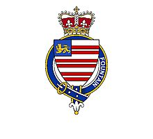 Coat of arms (family crest) for last-name or surname Fountain (England) . Heraldry banner for your name. Photographic Print