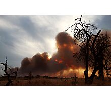 Bush Fire at Sunset. Photographic Print