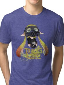 Squid AND a Kid -Yellow- Tri-blend T-Shirt