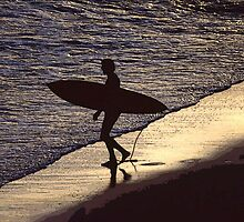 Evening surfer by Niall Stanton