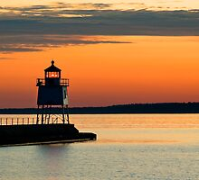 Beacon at Two Harbors by JimGuy