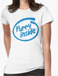 Furry Inside Womens Fitted T-Shirt