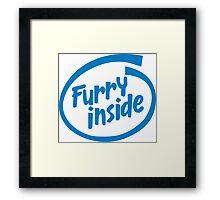 Furry Inside Framed Print