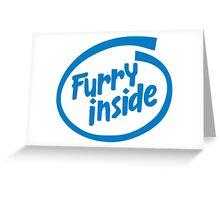 Furry Inside Greeting Card