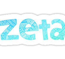 Zeta Tribal Sticker (Blue) Sticker