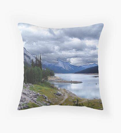 Medicine Lake, Alberta Throw Pillow