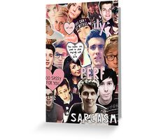 british youtubers Greeting Card