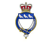 Coat of arms (family crest) for last-name or surname Frederick (England) . Heraldry banner for your name. Photographic Print