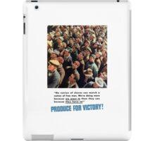 Produce For Victory -- World War II iPad Case/Skin