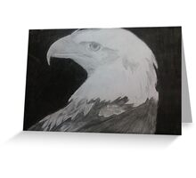 Black And white Eagel  Greeting Card