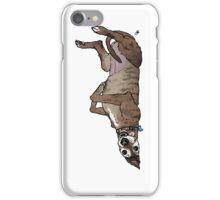 Derpasaurus greyhound  iPhone Case/Skin