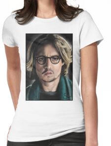 Johnny Depp Womens Fitted T-Shirt