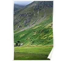 House on the old road, Snowdonia Poster