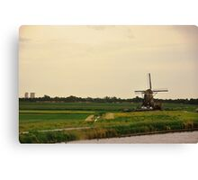 Windmill in the Countryside of Holland Canvas Print