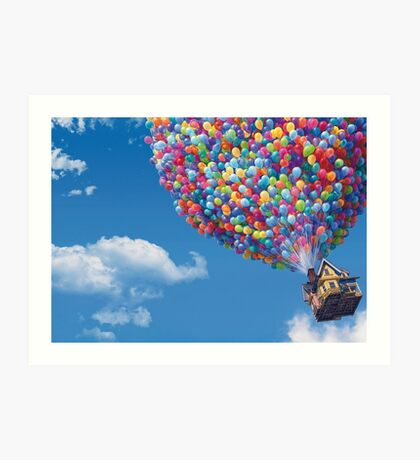 The House from Up Art Print
