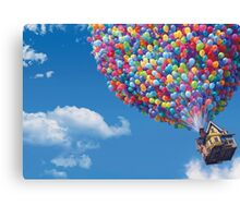 The House from Up Canvas Print
