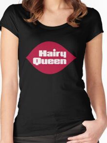 Hairy Queen Parody Logo Women's Fitted Scoop T-Shirt