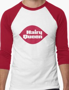 Hairy Queen Parody Logo Men's Baseball ¾ T-Shirt