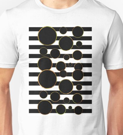 Behind the Screen Black and White Unisex T-Shirt