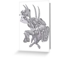 Hot Hunter on Moa Action! Greeting Card