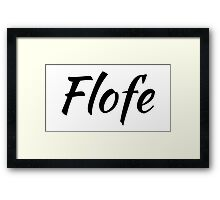 flofe white rectangle Framed Print