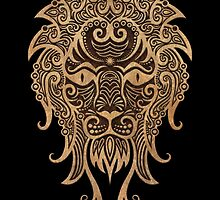 Rustic Leo Zodiac Sign on Black by Jeff Bartels