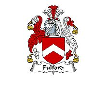 Coat of arms (family crest) for last-name or surname Fulford . Heraldry banner for your name. Photographic Print