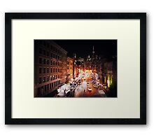 New York City - Night Framed Print