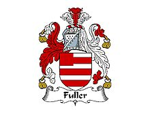 Coat of arms (family crest) for last-name or surname Fuller . Heraldry banner for your name. Photographic Print