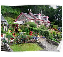 Cottage near Luss in Scotland Poster