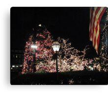 Christmas Tree / Nassau  St. Canvas Print