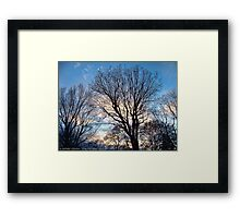 November Sky in Kalispell - West Framed Print