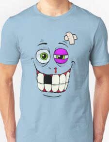 Smiley Beat-up Monster Face T-Shirt