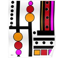 modernism red yellow pink 2014 Poster