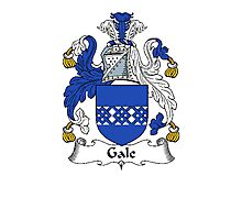 Coat of arms (family crest) for last-name or surname Gale or Gall . Heraldry banner for your name. Photographic Print